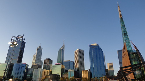 city travel sky urban building tower skyline architecture skyscraper buildings skyscrapers towers cities australia perth cbd westernaustralia urbanlandscape