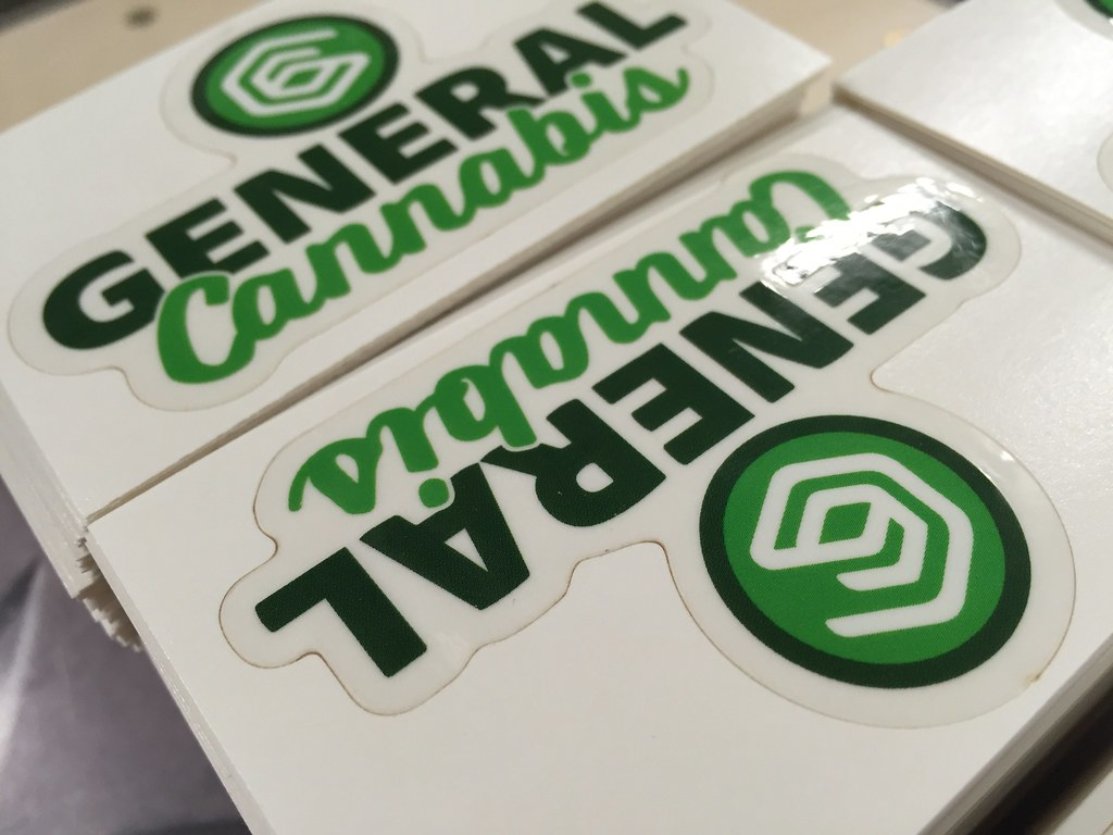 General Cannabis logo on clear stickers | StickerGiant