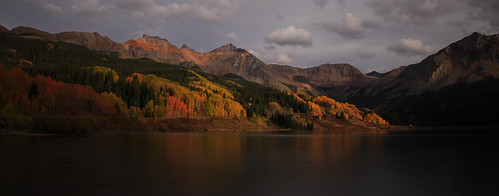 autumn sunset lake fall reflections san colorado juan parkway trout