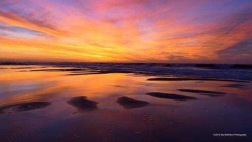 ocean newyork color reflection beach water sunrise sand surf longisland jfk sigma1835mmf18art pentaxk3ii