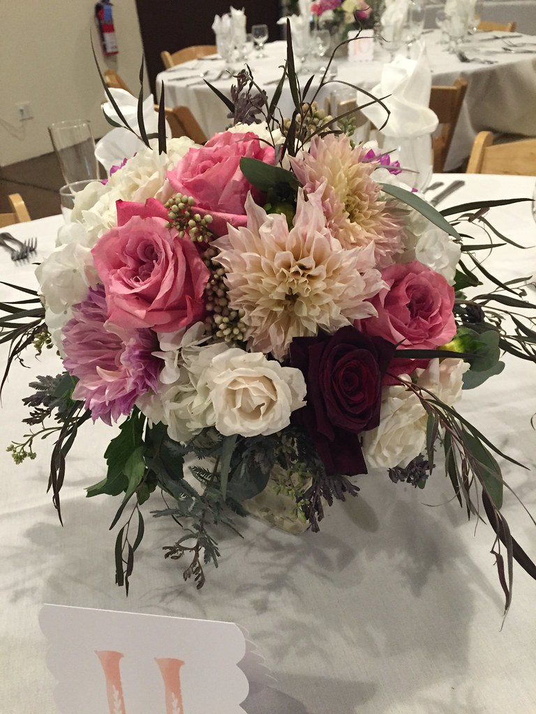 centerpieces, aimstudios, naperville wedding florist, blum