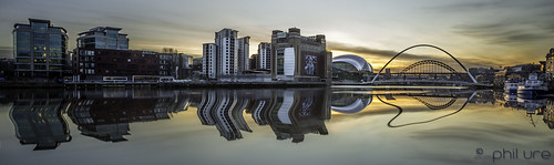 longexposure sunset reflection canon reflections river newcastle pano northeast quayside rivertyne newcastlequayside northeastengland canon6d