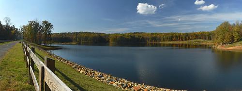 charlottesville reservoir autumn lake water panorama virginia nikond5500 landscape