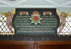 commemoration board by Ninian Comper, 1935