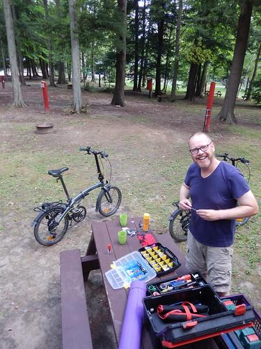 Campground in Vaudreuil - onderhoud fietsen