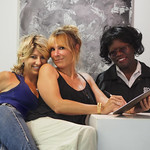 Showing some love after the show with Spiritual Alchemist%u2122 Misti Cooper...Living Unfiltered with Wendi Cooper and Ola on UBN Radio at Sunset Gower Studios in Hollywood, California