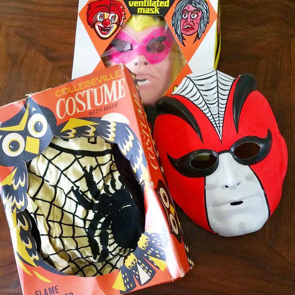 Vintage Halloween Costumes In A Box.Vintage Halloween Costumes Love The Owl On The Box And Am Flickr