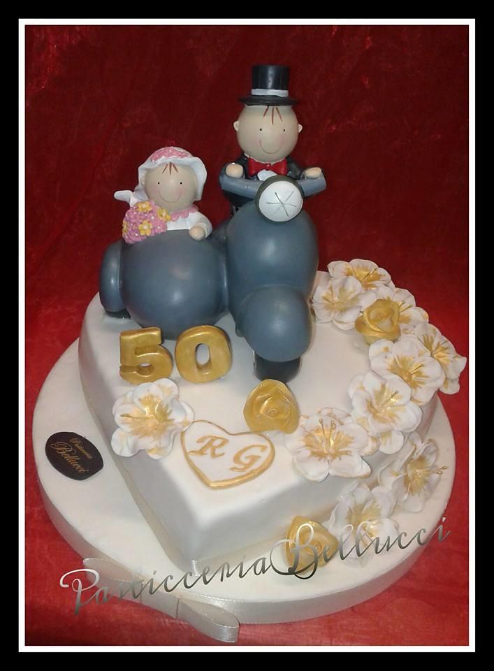 Torte Anniversario Di Matrimonio Pasta Di Zucchero.Torta Decorata Anniversario Di Matrimonio 50 Anni Di Mat Flickr
