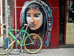 Alice Pasquini street art in Amsterdam alley