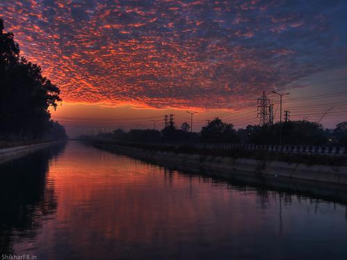 blue orange clouds sunrise nikon pointandshoot ludhiana p7800 shikharsharmaphotography nikoncoolpixp7800 shikharf8 shikharf8in shikharsharma