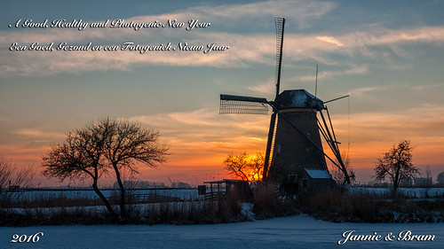 winter holland tree ice netherlands windmill clouds barn canon zonsondergang widescreen sneeuw nederland wolken boom 169 kinderdijk ijs windmolen schuur zuidholland southholland canoneos5d canonef24105mm bracom bramvanbroekhoven