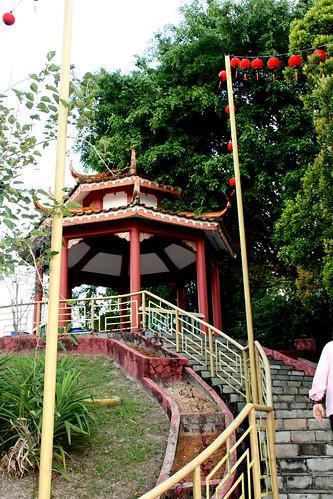 Walkway behind main building, Lim Fah San Monastery, Kuching, Sarawak   by davidvictor513