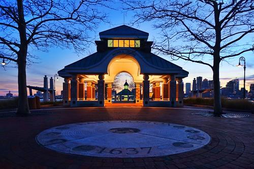 sunset boston evening pier dusk massachusetts newengland bluehour pierspark pw