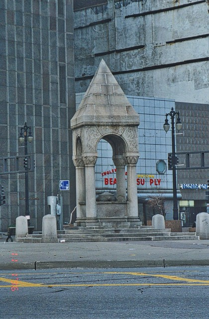 Detroit Michigan ~ The Bagley Memorial Fountain 1887 ~  My Old Photo