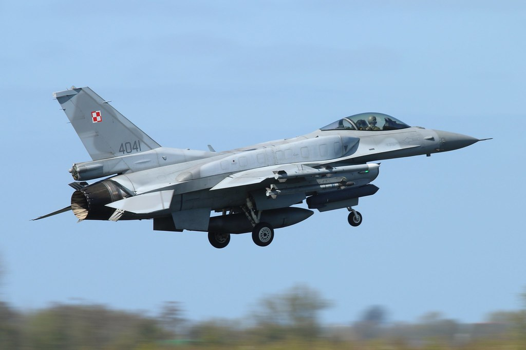 Polish Air Force F16C Block 52 from 6 Elt at Frisian Flag