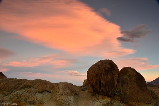 [Rocks and Orange Clouds]