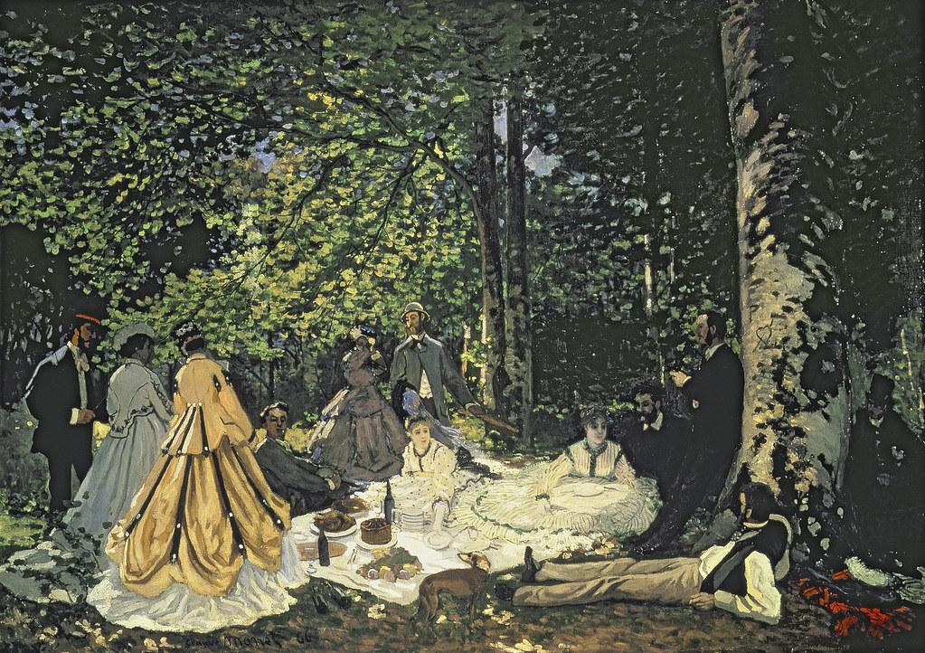 Claude Monet - Le Dejeuner sur L'Herbe [1865-66] | [Pushkin … | Flickr