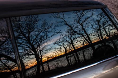 park winter lake reflection window car sunrise dawn mini mo missouri shore cooper fleming jacomo lakejacomo flemingpark