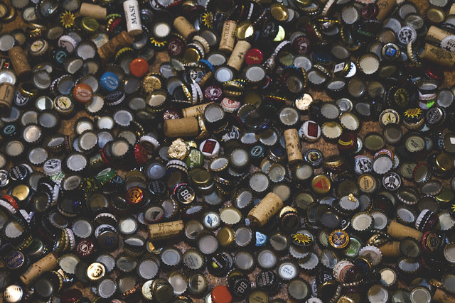 approx 4 years of beer bottle caps (2016)
