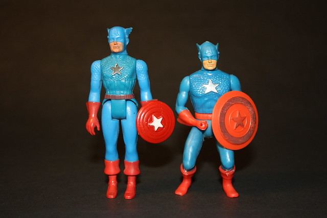 Two Mego Captain America's