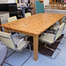 Large natural pine conference table