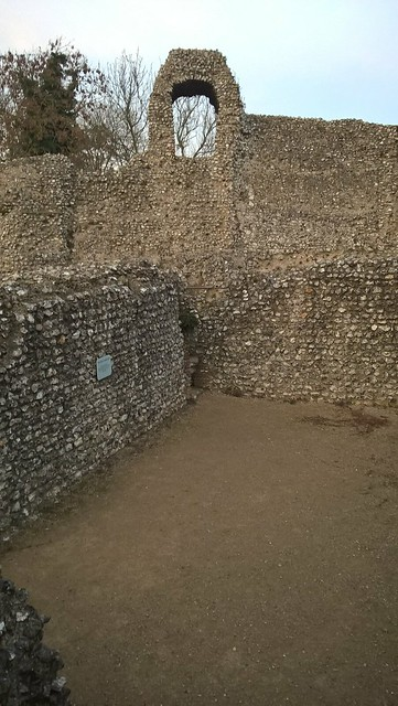 Ruins showing the cellars of Eynsford Castle