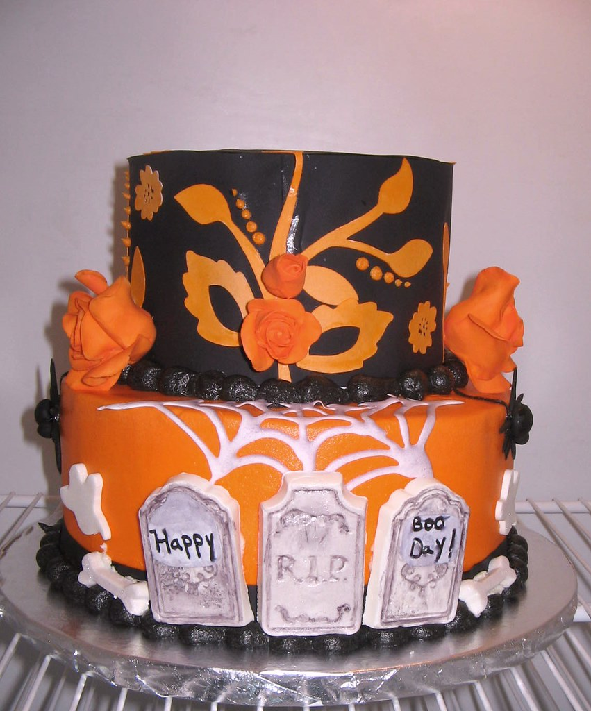 Admirable 55Th Halloween Birthday Cake Decorations For This Cake Wer Flickr Personalised Birthday Cards Veneteletsinfo