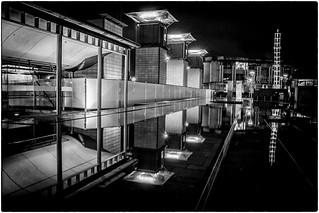 Bristol docks - night photograph