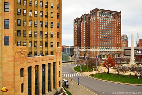 city ny newyork architecture photography buffalo downtown cityscape cityhall towers statler wallart walldecor niagarasquare etbtsy