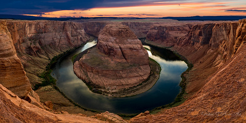 sunset panorama manipulated coloradoriver stitched americanwest 全景 horseshoebend pagearizona canonef24105mmf4lisusm canoneos6d 美国西部 马蹄湾 summer2015