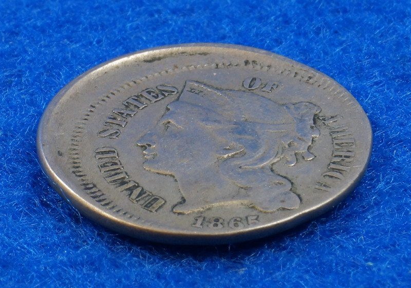 RD2517 1865 3 Cent Nickel Off Center VF DSC05740