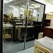 Wenge laminate & mirrored glass wardrobe