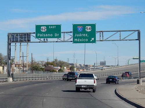 El Paso - rechtsaf Mexico