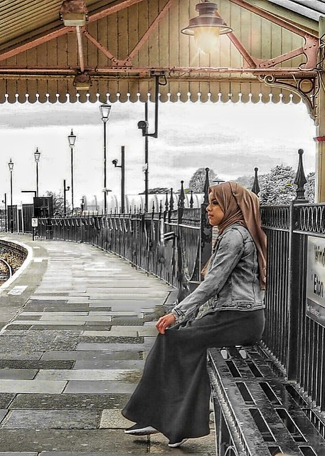 The girl of the French railway station
