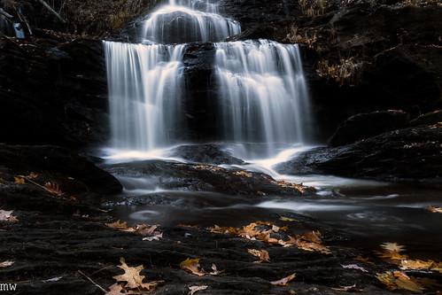 garwinfalls newhampshire newengland leaves waterfall longexposure autumn dodgeandburn haze cpl 24105mm 6d