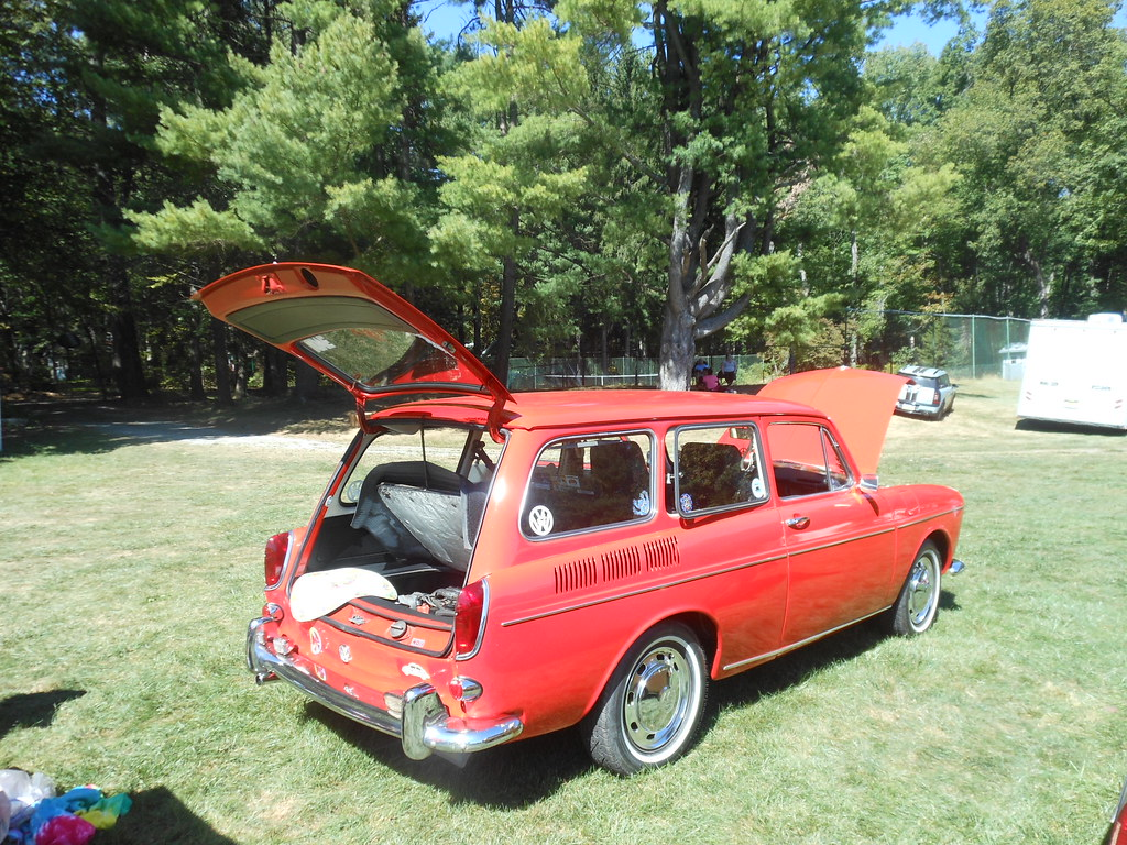Red 1968 VW Squareback | The Volkswagen Squareback was VW's