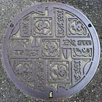 Kanda Fukuoka, manhole cover (福岡県苅田町のマンホール)