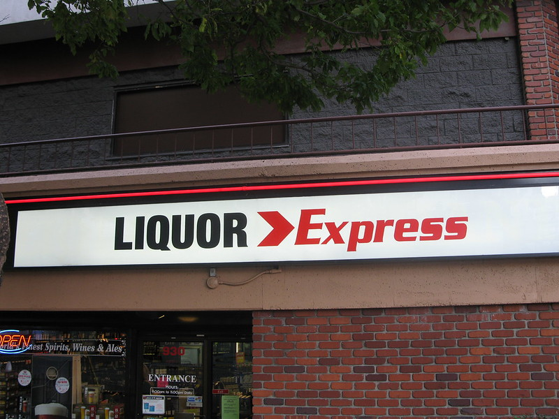 Liquor Express backlit cabinet