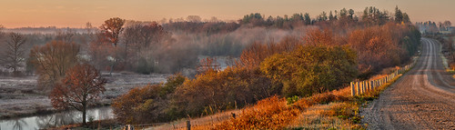 panorama mist ontario canada river landscape fallcolors gimp grandriver goldenhour morningmist westmontrose microsoftice oloneo olympusomdem5