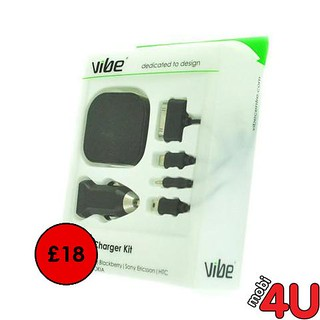 VIBE M4C4 UNIVERSAL MAINS & CAR CHARGING SET | by mobi_4u1