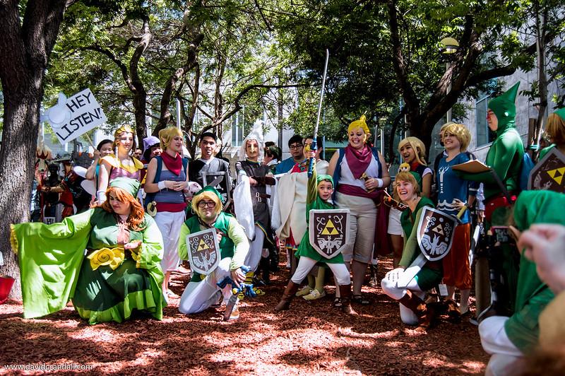 Zelda Gathering at Fanime