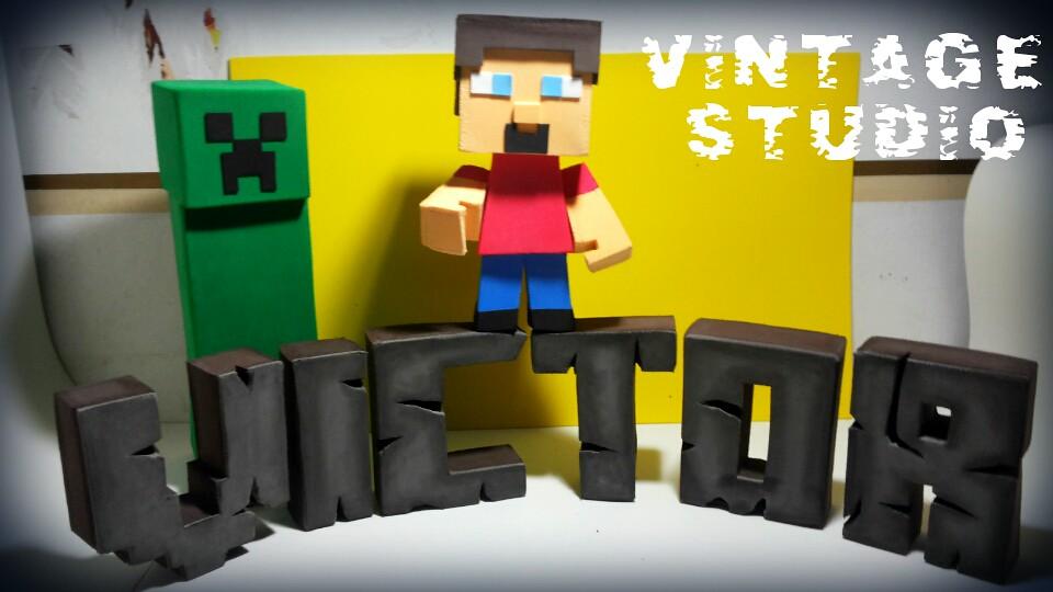 Letras Minecraft 3D | Peças 100% EVA   Contato pelo email ou