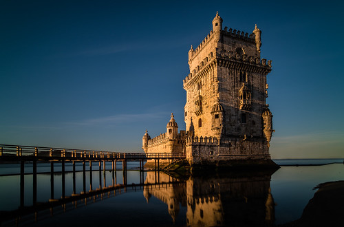 longexposure castle history portugal water sunrise island dawn europe lisbon d750 torredebelém