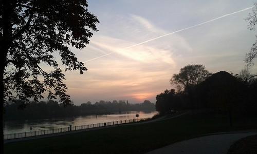 sunset germany evening abend sonnenuntergang bremen weser fluss strom sunsettoday riverweser