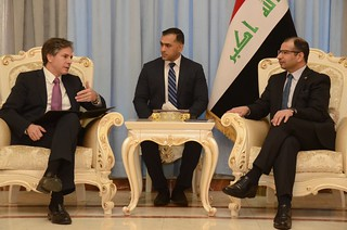 Deputy Secretary Blinken Meets With Speaker of the Iraqi Parliament al-Jabouri in Baghdad