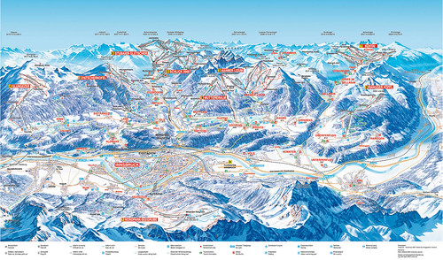 Innsbruck - mapa sjezdovek