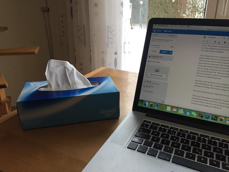 computer and handkerchiefs