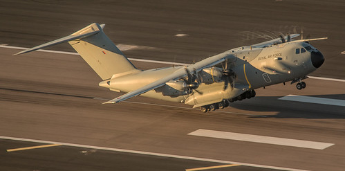 RAF A400M ZM408 Inugural flight to Gibraltar | by David Parody