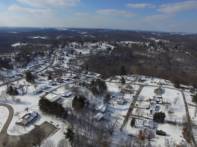 Arial Photo of Snow in Marietta