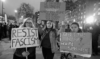 Resist fascism - demonstrators at London's anti-Trump rally. | by alisdare1